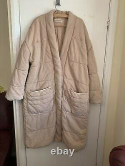 Free People Long Quilted Coat Jacket Size Large New With Tags