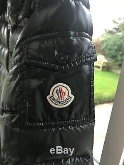 Genuine Moncler Moka Long Down Coat. Black. Excellent condition. Size 2