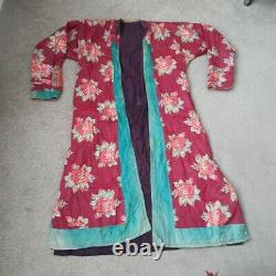 Genuine vintage/antique long Afghan cotton/silk coat