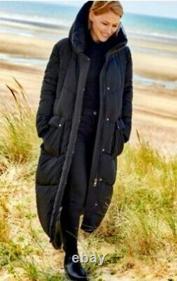 Gorgeous Emma Willis Long Padded Coat. Sold Out in Store & Online. Size 12 Black