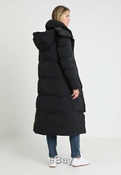HELLY HANSEN Women's Black winter Puffer Puffy Down Jacket Coat Long Extra Sz L