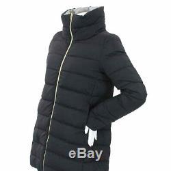 HERNO Down Coat Long Reversible High neck Black Gray Size 42 WOMEN 90074493