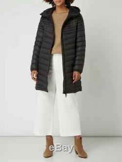 Hugo Boss Women's Oreveal Premium Down Long Coat Jacket Black Size 10 BNWT