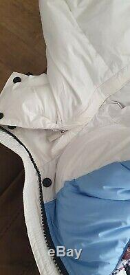 Hunter Women's Blue&White Owl Padded Long Coat Size S