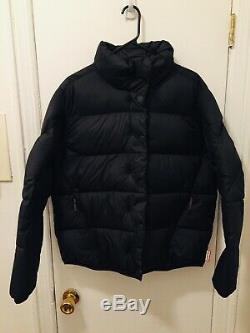 Hunter Womens Original Down Puffer Jacket Black Coat Large NEW NWT