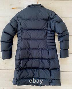 IMPRESSIVE Patagonia Down With It Parka Women's Large Black No Hood Long Jacket