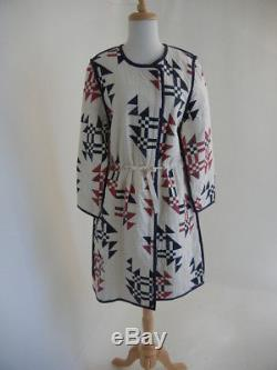 Isabel Marant (Fr34) NWT S'2018 Leist Aztec Print Long Quilted LOOSE Coat Jacket