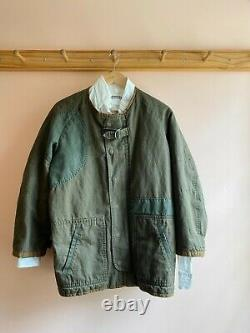 Isabel Marant cotton quilted army jacket patchwork cocoon coat Vintage 36 S