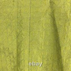 Jil Sander Coat 34 Jacket Lime Green Quilted Long Womens Vintage Style Overcoat