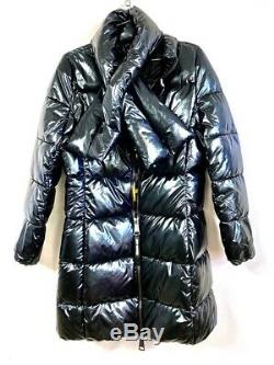 Juicy Couture Black Label Glossy Black Puffer Jacket Coat M NWT $328