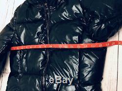 Juicy Couture Black Label Glossy Oversize Dark Blue Metallic Puffer Jacket Coat
