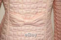 KATE SPADE A-Line Bow-Quilt Jacket 33 Long, Bow at Back Orchid Pink sz M $278