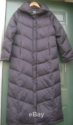 Kenneth Cole Reaction Down Filled Womens Long Coat Quilted Solid L Black New W T