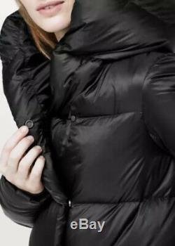 LULULEMON Cloudscape Wrap Long 700 Goose Down Winter Coat Black Jacket US-10 NWT