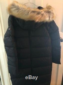 Ladies Tommy Hilfiger Quilted Black Long Down Coat