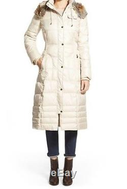 Laundry by Women's Winter quilted puffer faux fur hooded long coat plus 3X to 4X