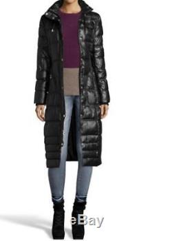 Laundry by design Women's Winter Church black quilted puffer long coat plus 2X3X