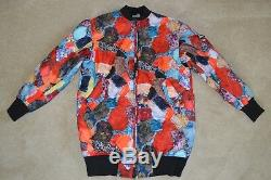 Love Moschino Patchwork Long Quilted Bomber Jacket Zip Coat Womens Small S