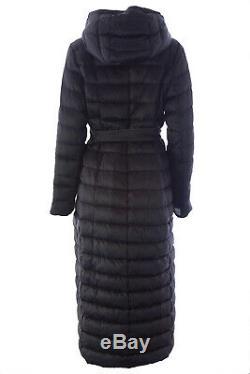 MAX MARA Women's Novet Black Long Reversible Down Coat Sz 12 $1,450 NWT