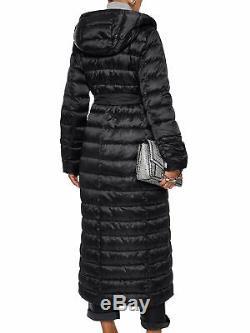 MAX MARA Women's Novet Black/black Long Reversible Down Coat Sz 8 NWT