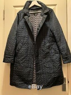 MAXMARA WEEKEND QUILTED FRONT PACKET REMOVABLE COLLAR LONG SLEEVES COAT Size 12