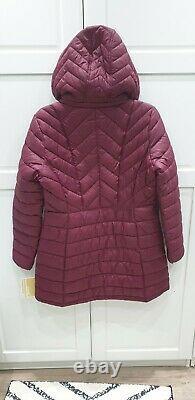 MICHAEL KORS Packable Hooded Chevron Puffer Coat Ladies Jacket RRP £240 Size M