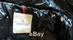 MONCLER BLAIREAU Lacquer Black Jacket Puffer Long Coat Size 1, S