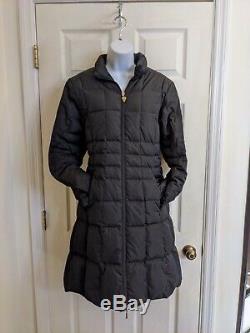 MONCLER Black Down Quilted Winter Puffer Coat, Long Zip Sz 3/L VGUC. $2K RP