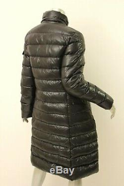 MONCLER Black Moka Quilted Long Down Coat 3