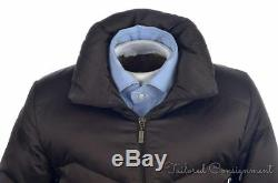 MONCLER Brown Long Quilted Puffer Womens Zip Jacket Coat Small / Size 1
