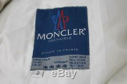 MONCLER Ladies Beige Down Filled Quilted Double Close Long Puffer Coat UK14 FR3