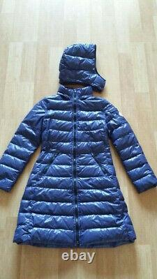 MONCLER Purple Detachable Hood Long Down Puffer Jacket Coat Size 14 years 164, S