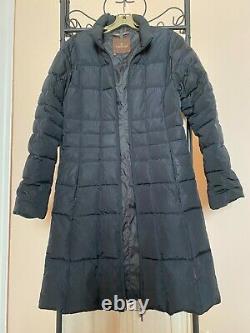 MONCLER Women's Long Quilted Puffer Black Jacket Coat Parka France SZ 3/M