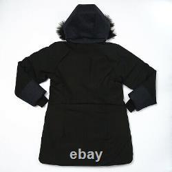 Marmot Jules 700 Quilted Black Heather Parka Jacket Women's L