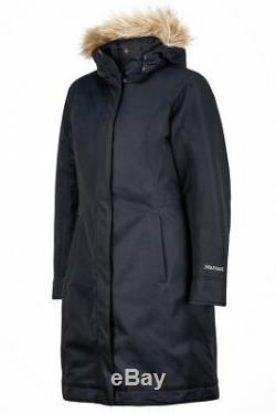 Marmot Womens Chelsea Down Long Jacket Coat Black
