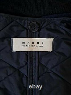 Marni collection bomber jacket coat with removable quilted long vest EU38 US 2