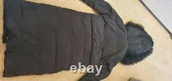 Max&Co (Max Mara) Puffer Down Coat Navy with real Mongolian fur colar