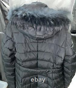 Max Mara Weekend Black Down Puffer Long Coat Jacket