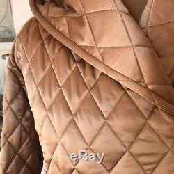 Max Mara silk quilted coat/long jacket D42 USA12 F44 Mex34 GB14 IT46