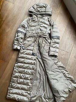 MaxMara Cube Long Hooded Padded Down coat UK8