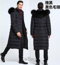 Men 90%Down Jacket Coat Parka Snow Waterproof Hooded Warm Quilted Jacket Long SZ