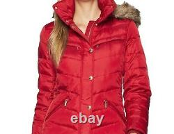 Michael Kors Authentic Church Women's Winter Down hooded parka coat Red size XL