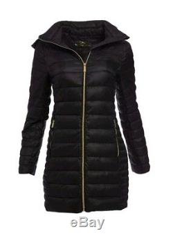 Michael Kors Puffer Jacket Down Mk Packable Quilted Coat Womens Long Winter Wear