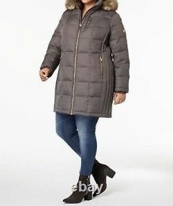 Michael Kors Women's Winter Outerwear fur hood parka coat Jacket plus1X 2X 3X 4X