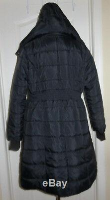Modern Eternity Maternity Madison 3 in 1 Black Long Quilted Puffer Coat Small
