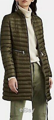 Moncler AGATELON woman Long Outerwear Quilted Puffer Coat Dark Green 1/ S- 1275$