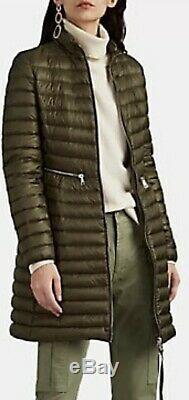 aa2d02cdf Moncler AGATELON woman Long Outerwear Quilted Puffer Coat Dark Green ...