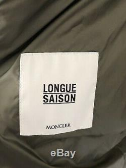 Moncler AGATELON woman Long Outerwear Quilted Puffer Coat Dark Green 2/ M- 1275$