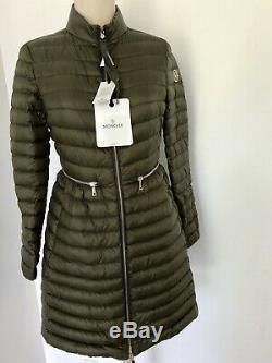 Moncler AGATELON woman Long Outerwear Quilted Puffer Coat Dark Green 4/XL- 1275$