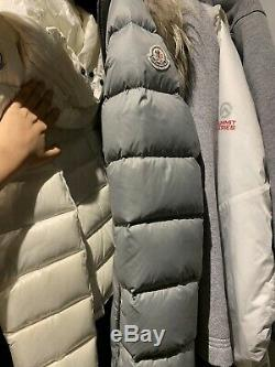 Moncler Authetic Winter Jacket Coat Long Size 12Y Removable Raccoon Fur Hood